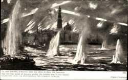 Bombardierung, Stadt in Flammen