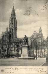Place verte, Statue de P.P. Rubens, Cathedrale