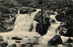 Wasserfälle bei Hochwasser, August 1925