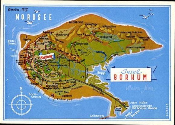 10 Alte Ansichtskarten Insel Borkum Ostfriesland Diverse Akpool De